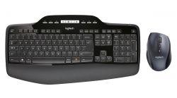 LOGITECH - Wireless Desktop MK710 - Conjunto de teclado e rato - sem fios - 2.4 GHz - Espanhol (Layout não português)