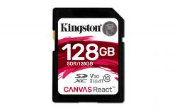 KINGSTON - 128GB SDXC Canvas React UHS-I U3 A1