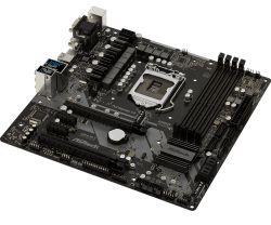 ASROCK - BOARD Z370M PRO4, AMD, AM4, Z370, 4DDR4, 64GB, VGA+DVI+HDMI, GBLAN, 6SATA3, 9USB3.1, MATX