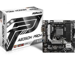 ASROCK - AB350M PRO4 AMD B350 SOCKET AM4 MICRO ATX BASE