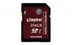 KINGSTON - SD 256GB SDXC UHS-I SPEED CLASS 3 90MB/S