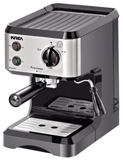 KREA - MAQUINA CAFE 15 BAR CAFE MOIDO OU PASTILHA FRENTE INOX