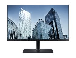 SAMSUNG - SH85 Series S24H850QFU - Monitor LED - 24P (23.8P visível) - 2560 x 1440 - Plane to Line Switching (PLS) - 300 cd/m² - 1000:1 - 5 ms - HDMI, DisplayPort - preto