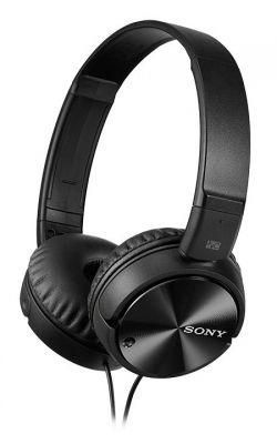 SONY - MDR-ZX110NA - Auscultadores compatíveis com smartphones com diafragma de 30 mm e autonomia de bateria até 80 horas, Tecnologia de cancelamento de ruído (redução de 95%)