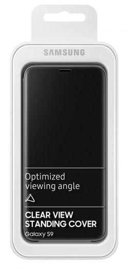 SAMSUNG - CAPA SAMSUNG GALAXY S9 CLEAR VIEW STANDING COVER PRETO - EF-ZG960CBEGWW