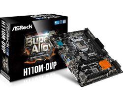 ASROCK - H110M-DVP INTEL 1151 H110 2DDR4 32GB +DVI GBLAN 4SATA3 4USB3 MATX