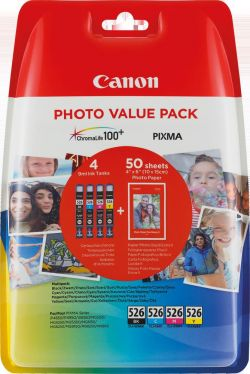 CANON - Value Pack / 4x6 PP+CLI-526 C / M / Y / BK BLSEC