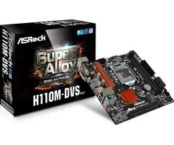 ASROCK - H110M-DVS R3.0 INTEL 1151 H110 2DDR4 32GB +DVI GBLAN 4SATA3 4USB3 MATX