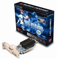 SAPPHIRE - HD6450, AMD, R6450, DDR3, 1024MB, 64BIT, 1DVI, 1HDMI, LP, PASIVA (11190-02-20G)