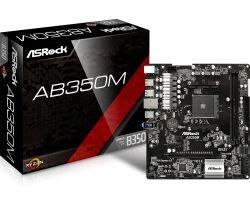 ASROCK - AB350M AMD AM4 B350 2DDR4 32GB GBLAN 4SATA3 8USB3 MATX