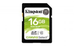 KINGSTON - SD Card HC 16GB Canvas Select 80R CL10 UHS-I