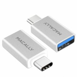 MACALLY - Adaptador USB-C - USB A (pack 2x)