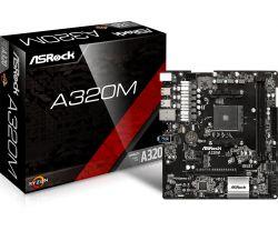ASROCK - BOARD A320M, AMD, AM4, A320, 2DDR4, 32GB, SIN VGA, GBLAN, 4SATA3, 6USB3.1, MATX