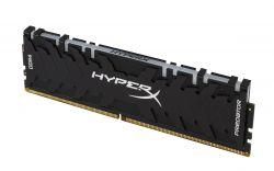 KINGSTON - DDR4 32GB 3200MHz CL16 DIMM (Kit of 4) HyperX Predator RGB
