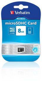 VERBATIM - MICRO SDHC 8GB CLASS 10
