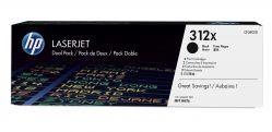 HP - 312X 2 - pack High Yield Black LaserJet Toner Cartridges (CF380XD)