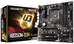 GIGABYTE - GA-AB350M-D3H AM4 MATX CPNT SND+GLN+U3.1 M2 SATA 6GB/S DDR4