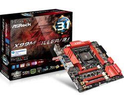 ASROCK - X99M KILLER/3.1 INTEL 2011-V3 X99 4DDR4 64GB 2GBLAN 10SATA3 2USB3.1 MATX