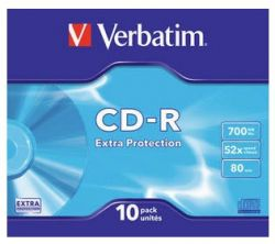 VERBATIM - CD -R 700MB 52X SLIM 10 DATALIFE