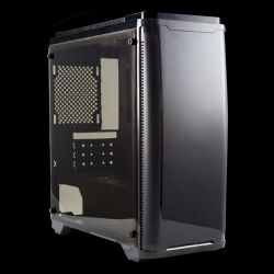 OEM - CAIXA GAMING ARMOR C20 MATX GAMING BLACK 1XUSB