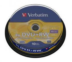 VERBATIM - DVD +RW 4.7GB 4X SPINDLE 10 ADVANCED SERL