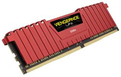 CORSAIR - DDR4 16GB 2X8GB PC 2666 VENGEANCE LPX RED CMK16GX4M2A2666C16R