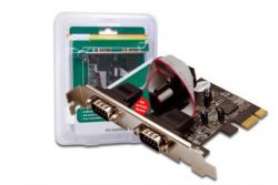 DIGITUS - PCIE CARD 2XSERIAL INTERFACE(LOW PROF