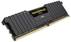 CORSAIR - MEMORIA DDR4 8GB 2X4GB PC 3000 VENGEANCE LPX BLACK CMK8GX4M2C3000C16