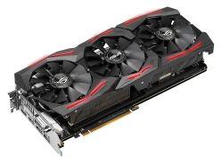 ASUS - ROG-STRIX-RXVEGA64-O8G-GAMING - Radeon RXVEGA64, 8GB HBM2, PCI-E 3.0, 1X Native Dual-link DVI-D (HDCP support)