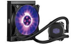 COOLER MASTER - MasterLiquid ML120L RGB, 120mm Radiator, RGB Fan & Water Block, Included Wired RGB Controller & Splitter