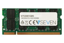 V7 - 1GB DDR2 667MHZ CL5 MEM SO DIMM PC2-5300 1.8V