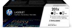 HP - 201X 2 - pack High Yield Black Original LaserJet Toner Cartridges (CF400XD)