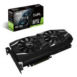 ASUS - DUAL-RTX2080TI-O11G - NVIDIA GeForce RTX 2080 Ti, Memória: 11GB GDDR6, Interface de Memória: 352 Bits, 1x Native USB Type-c output, 1x Native HDMI 2.0b output, 3x Native Display Port 1