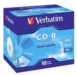 VERBATIM - CD -R 800MB 40X JEWEL CASE 10