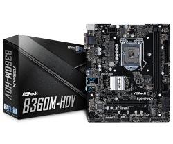 ASROCK - PB S1151-V2 B360M-HDV 2DDR4/PCIE/SATA3/USB3.1/HDMI/DVI-D/mATX