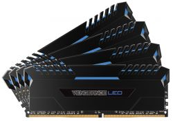 CORSAIR - DDR4 64GB 4X16GB PC 2666 VENGEANCE LED SERIES LED AZUL CMU64GX4M4A2666C16B