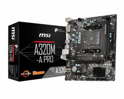 MSI - A320M-A PRO AM4 M-ATX 2xD4 2667 SATA3 USB3.1