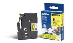 BROTHER - Fita Laminada 6mm - Amarelo/Preto para P-Touch