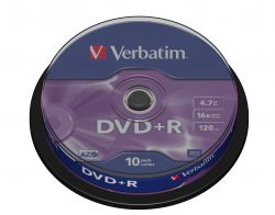VERBATIM - DVD+R 16x Pack 10