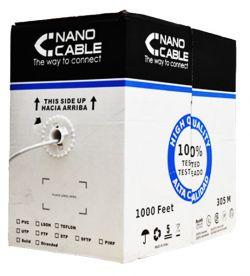 NANOCABLE - CABO REDE RJ45 CAT.5E UTP FLEXIBLE AWG24 305 M