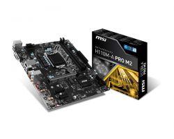MSI - H110M-A PRO M2 INTEL 1151 H110 2DDR4 32GB DVI+HDMI GBLAN 4SATA3 4USB3.1 MATX