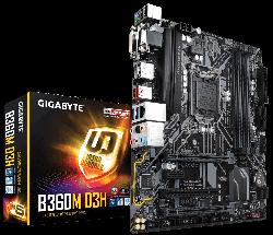 GIGABYTE - MB GIGABYTE B360 LGA1151 4XDDR4/1D-SUB/1DVI-D/1DP/1HDMI/USB-C - GA-B360M D3H