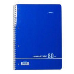 AMBAR - Caderno Espiral Liso Ambar A4 C / Azul 80F 70Grs Basic (min. 10 un.)
