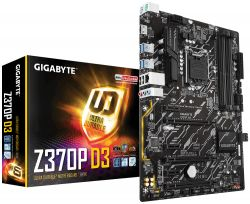 GIGABYTE - Z370P D3 S1151V2 Z370 ATX CPNT SND+GLN+U3+M2 SATA 6GB/S DDR4