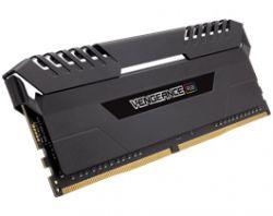 CORSAIR - DDR4 2666MHz 16GB 2 x 288 Unbuffered 16-18-18-35 Vengeance Black Heat spreader Custom Performance PCB RGB LED 1.20V XMP 2.0
