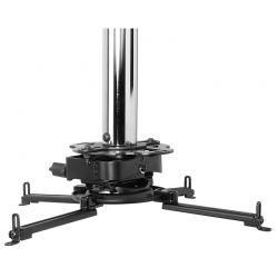 PEERLESS - PRSS PRSSKIT150 - Kit de montagem (placa de tecto, poste de extensão, adaptador em formato aranha) para projector - cromo, revestimento preto sem brilho