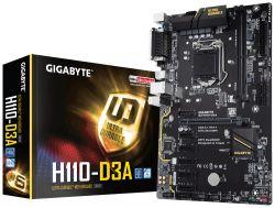 GIGABYTE - H110-D3A INTEL 1151 H110 2DDR4 32GB VGA GBLAN 4SATA3 2USB3.1 (ESPECIAL BITCOINS)