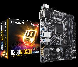 GIGABYTE - MB GIGABYTE B360 LGA1151 4XDDR4/1D-SUB/1DVI-D/1HDMI/USB 3.1 - GA-B360M DS3H
