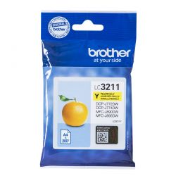 BROTHER - YELLOW INK CARTRIDGE WITH SUPL CAPACITY OF 200 PAGES