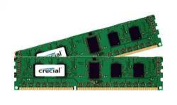 CRUCIAL - DDR3L - 16 GB: 2 x 8 GB - DIMM 240 pinos - 1600 MHz / PC3-12800 - CL11 - 1.35 V - unbuffered - sem ECC